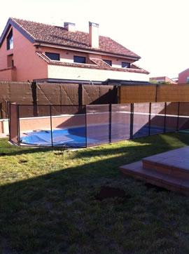 Piscinas brunete vallas de seguridad de piscinas for Piscinas prefabricadas madrid